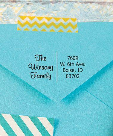 Two Column Personalized Self-Inking Address Stamp #zulily #zulilyfinds