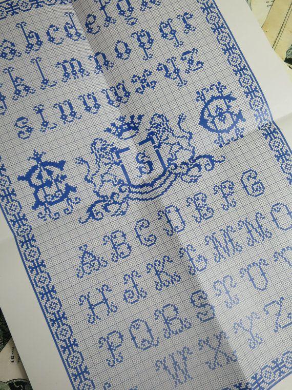 Sajou Vintage Samplers borduurwerk grafiek door PenelopeTextiles