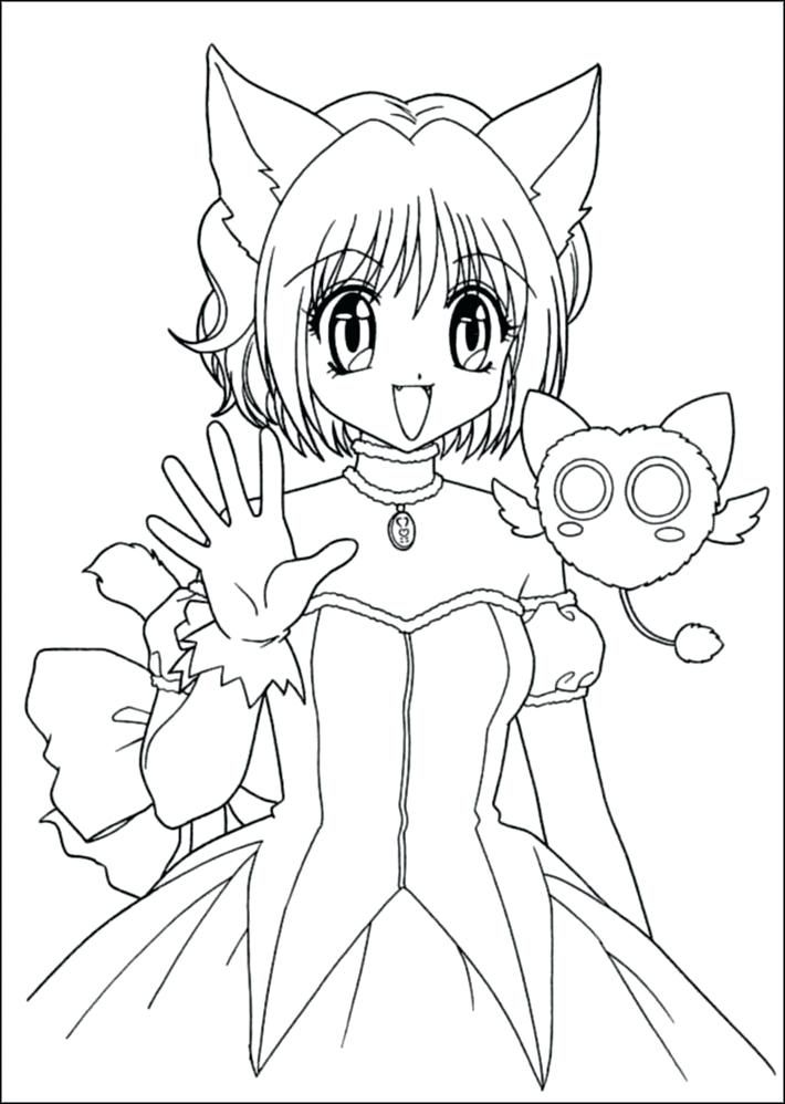 This Is Anime Coloring Page Images Cat Girl Anime Coloring Pages
