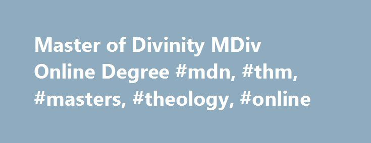 Online Masters Degrees: Free Online Masters Degree In Theology