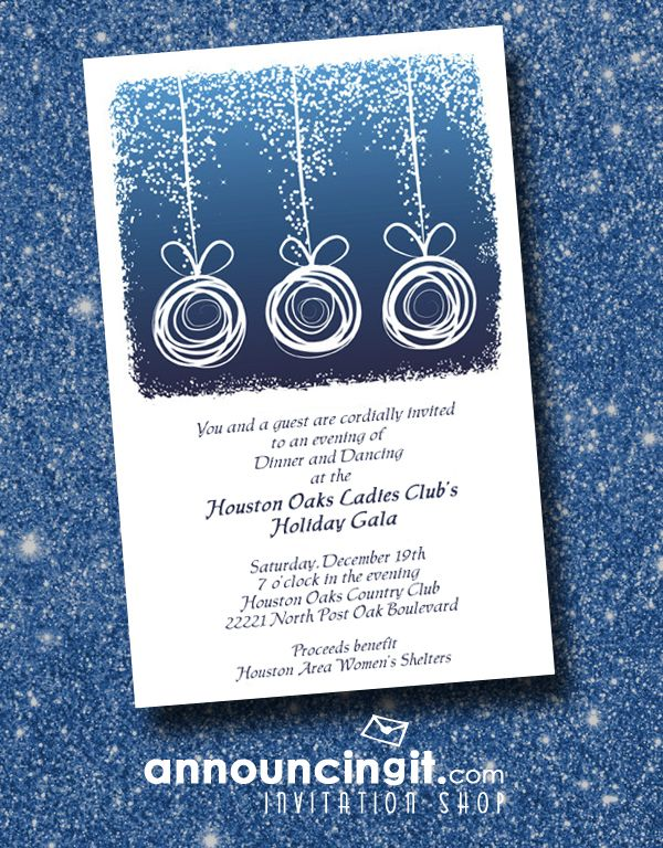 89 best christmas and holiday invitations images on pinterest abstract ornaments on blue stopboris