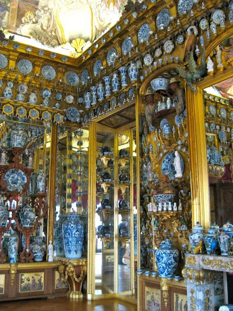 You thought you loved blue and white Chinese porcelain? The China Cabinet at Charlottenburg Palace in Berlin.