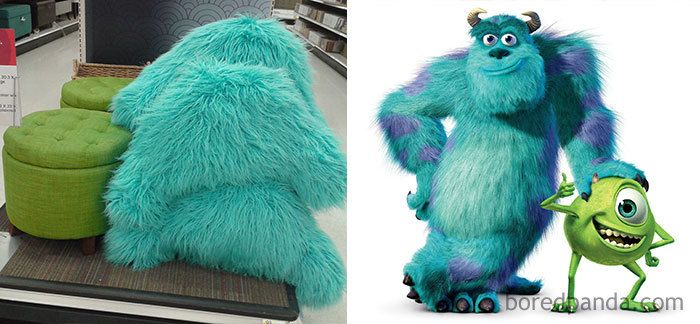This Furniture From Target Looks Just Like Mike And Sully From Monsters Inc.