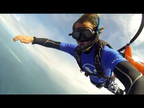 ☐ Scuba Skydiving: Skydiving above the Great Barrier Reef straight into the water to scuba dive. #adventure #skydiving #scuba