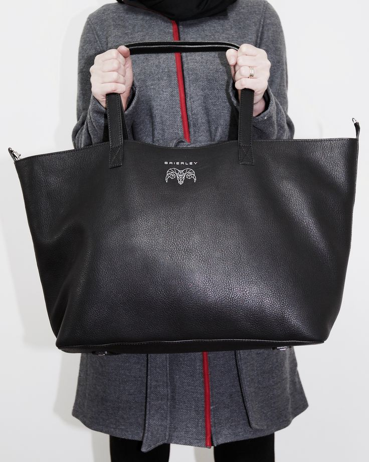 Black leather Brierley Bag Tote