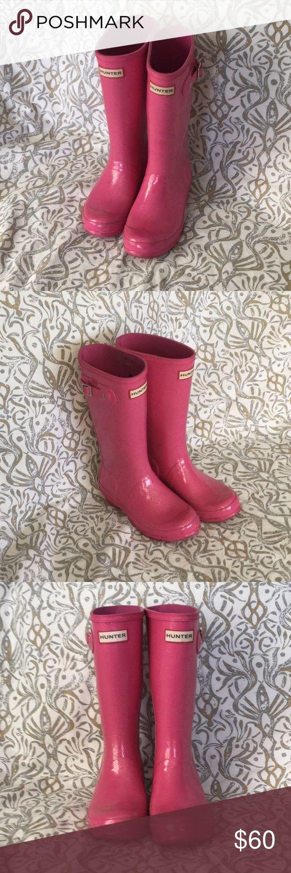 Girls Hunter Boots Pink Glitter Gorgeous Girl pink Glitter Hunter Boots Hunter Shoes Boots
