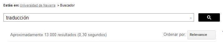 En este pin se observa que si buscas la palabra #traduccion en el #buscador de la #weboficial de la #UniversidadDeNavarra, aparecen 13.000 resultados.