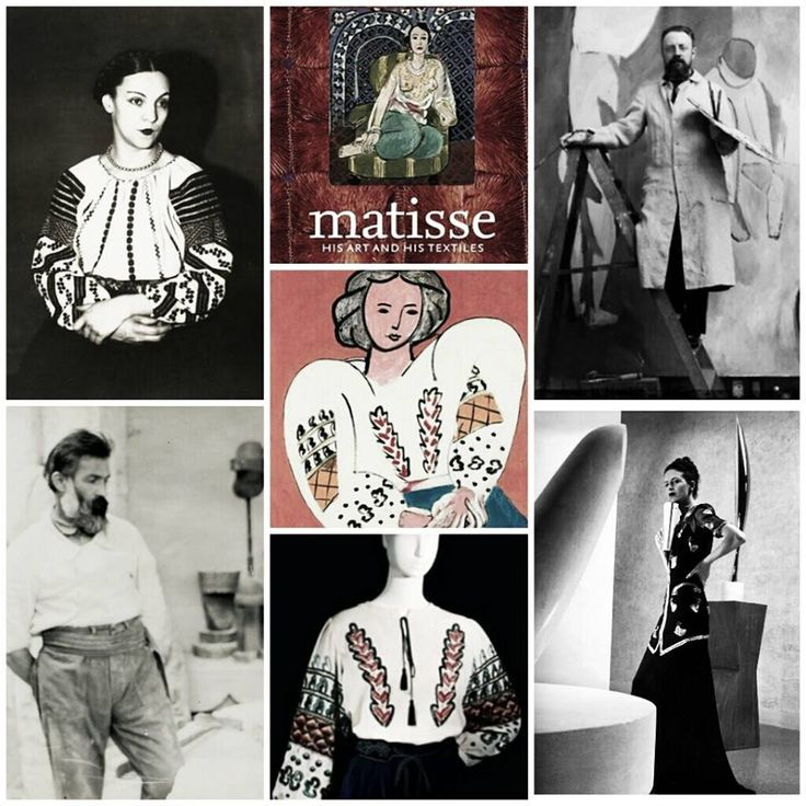 Picture the scene at the party in Montparnasse in the 1920s, when the louche Paris district was a haven for artists. In walks the sculptor Constantin Brancusi in a Romanian peasant top - little knowing that his folkloric elegance would capture the eye and the pencil of his fellow artist Henri Matisse. .. http://www.nytimes.com/2005/03/21/style/21iht-Fmatisse.html?_r=0  https://www.facebook.com/photo.php?fbid=466812200103786&set=a.286820234769651.68861.286810884770586&type=1&theater