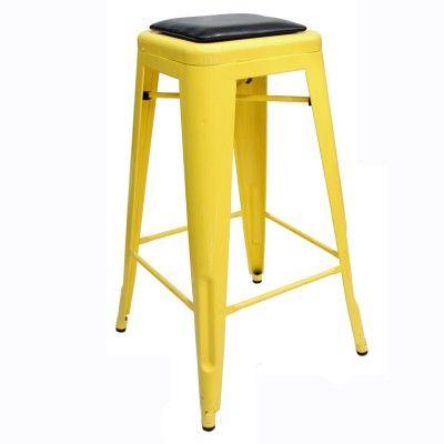 Toffee Bar Stool 76cm (PU Seat pad) Cafe Ideas $104