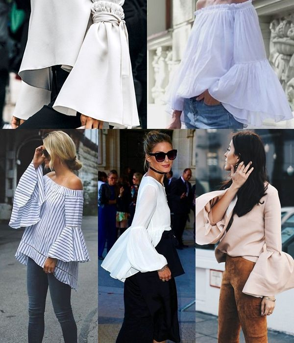 Spring Summer 17 Key Style – make a sweeping statement in this season's super sleeves.  Photo credit: Pinterest  #maudfrizon #spring #fashiontrend #statementsleeves #SS17 #keyelement #chic #fashion #fashioninspiration #style #trending