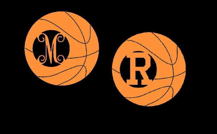 Basketball Monogram, DIY Wooden Basketball Monogram, Basketball Monogram Door Hanger, Basketball Monogram With Athletic or Vine Font by JohnsWoodWorx on Etsy