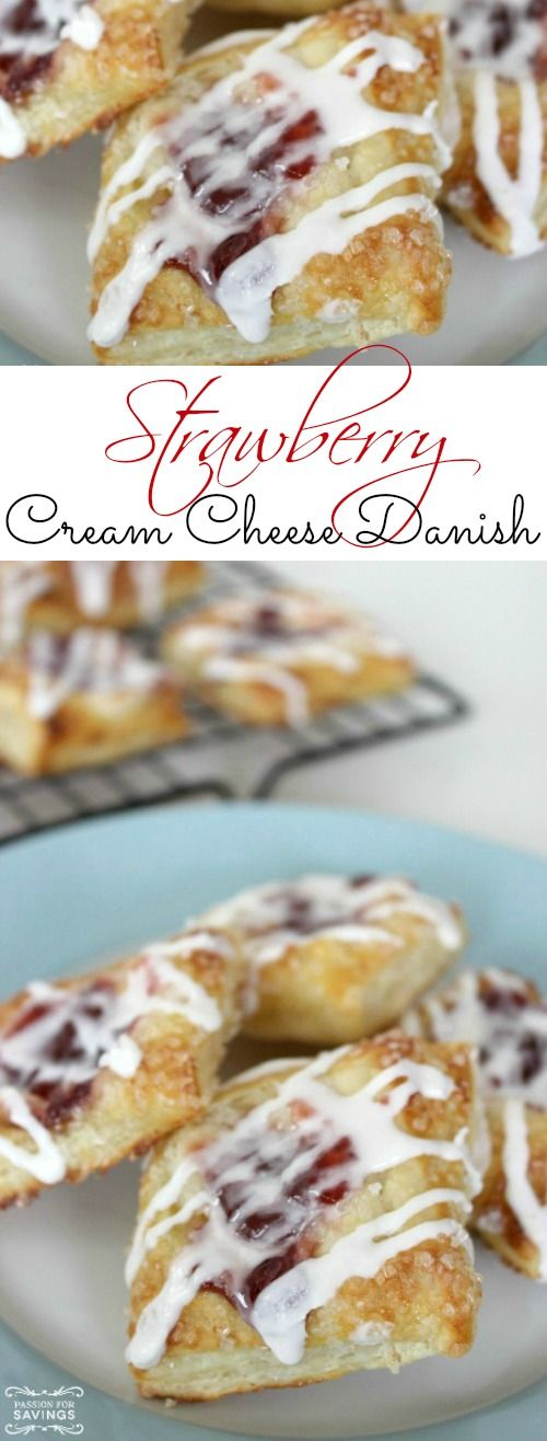 Strawberry Cream Cheese Danish Recipe! Easy Breakfast Recipe or Brunch Recipe for Friends and Family!