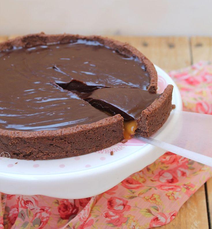 Crostata Mars al caramello e ganache al cioccolato