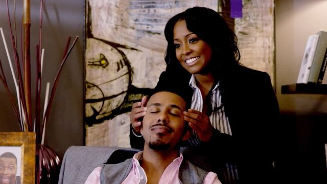 """(L-R): Marques Houston as Jamal Hawkins and Keshia Knight Pulliam as Rachel Paris in the urban romantic comedy """"WILL TO LOVE"""" a Footage Films release. Photo credit: Footage Films."""