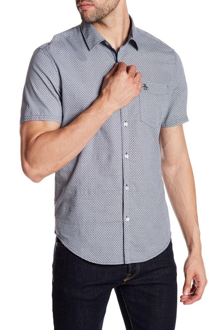 Geo Print Heritage Slim Fit Shirt  by Original Penguin on @nordstrom_rack