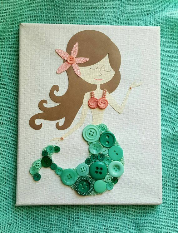Hey, I found this really awesome Etsy listing at https://www.etsy.com/listing/254617201/mermaid-button-under-the-sea-button-art