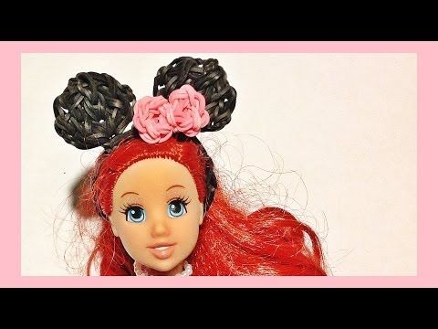 Rainbow Loom Charms: Barbie, Mickey Mouse / Minnie Mouse Barbie Doll Ears | Loom bands instructions
