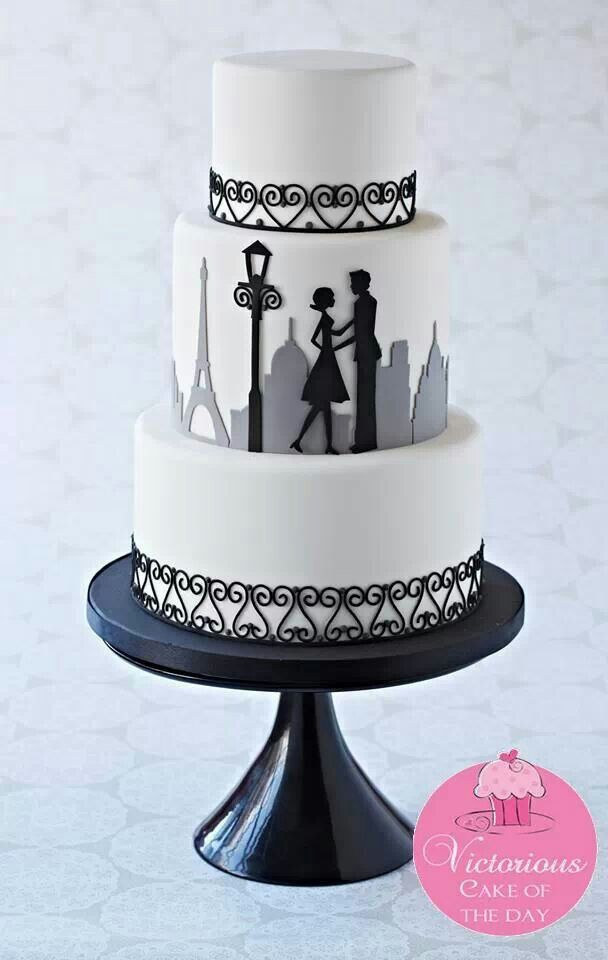 silhouette wedding cake cutters 344 best fondant cake design black amp white theme images 19822