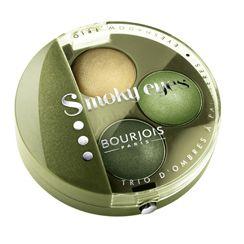 Bourjois Smoky Eyes Trio Eyeshadow Vert Jungle 14 - green might seem a bit eighties, but I love wearing it.
