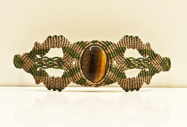 ALANGOO - Handmade tiger eye bracelet