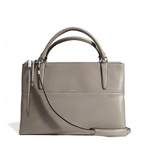 @Who What Wear - CoachThe Borough Bag In Retro Glove Tan Leather ($598) in Warm Grey
