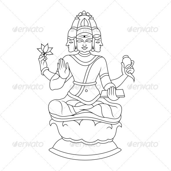 """Brahma Religious Vector Design  #GraphicRiver         """"High quality vector with smooth curves and sharp edges.   This vinyl ready brahma hindu religious vector design clip art is ideal for screen, offset, digital and large format printing, These are also used for digital screens, routing, engraving, carving, stencils and embroidery etc.   - available in version EPS, JPG""""     Created: 28April13 GraphicsFilesIncluded: JPGImage #VectorEPS Layered: No MinimumAdobeCSVersion: CS Tags:"""