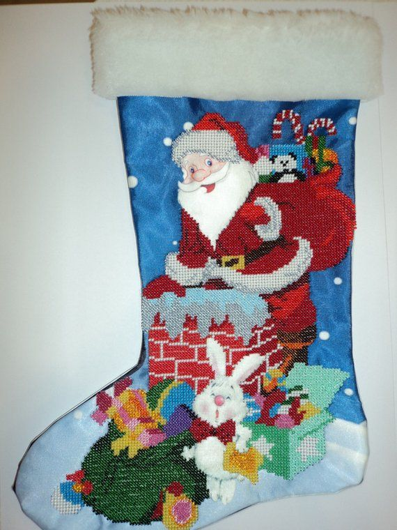 Christmas stocking New Year\u0027s stocking Embroidered stocking