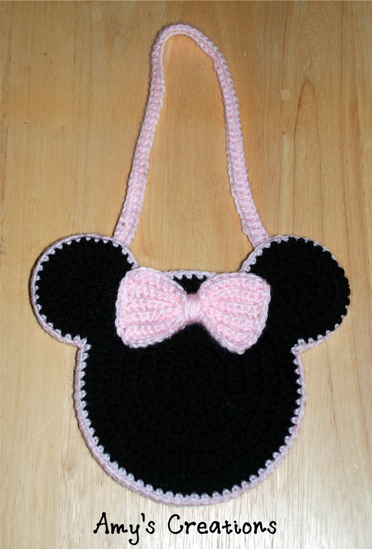 Crochet Minnie Mouse Purse, http://crochetjewel.com/?p=14867
