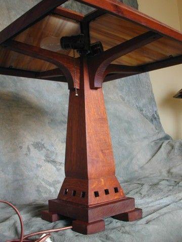 Craftsman lamp base