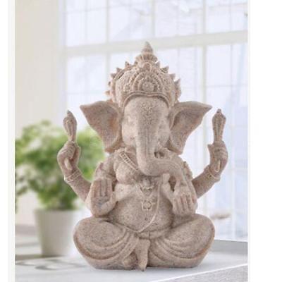 The Hue Sandstone Ganesha Buddha Elephant Statue Sculpture Figurine Decor