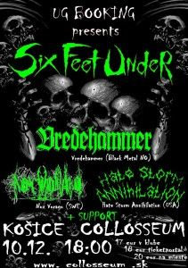 Six Feet Under v Collosseu - eventari.sk