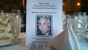 We are so lucky to have one of the most popular tournaments in the city; and are very fortunate to have such generous gift donors and hole sponsors. They, with the golfers, are the backbone of this outing.  This outing started 16 years ago in memory of my twin brother, George. Most memorial tournaments last about 4 to 5 years and fizzle out. This one keeps getting more life every year.