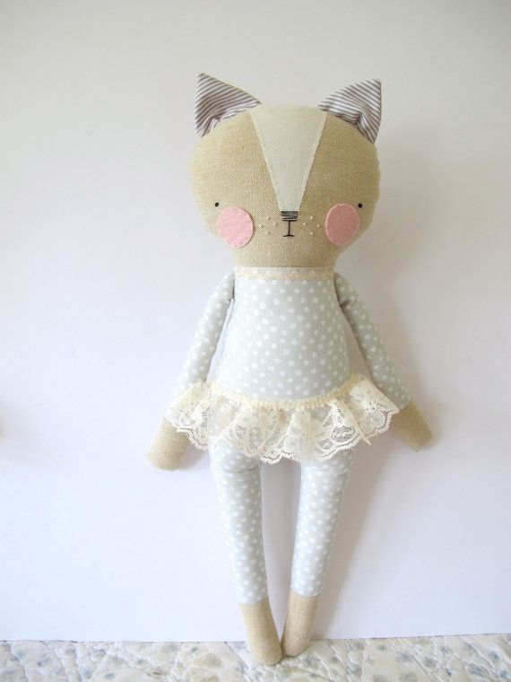 would make such a sweet gift for someone else! luckyjuju kitty girl - cat lovie - doll
