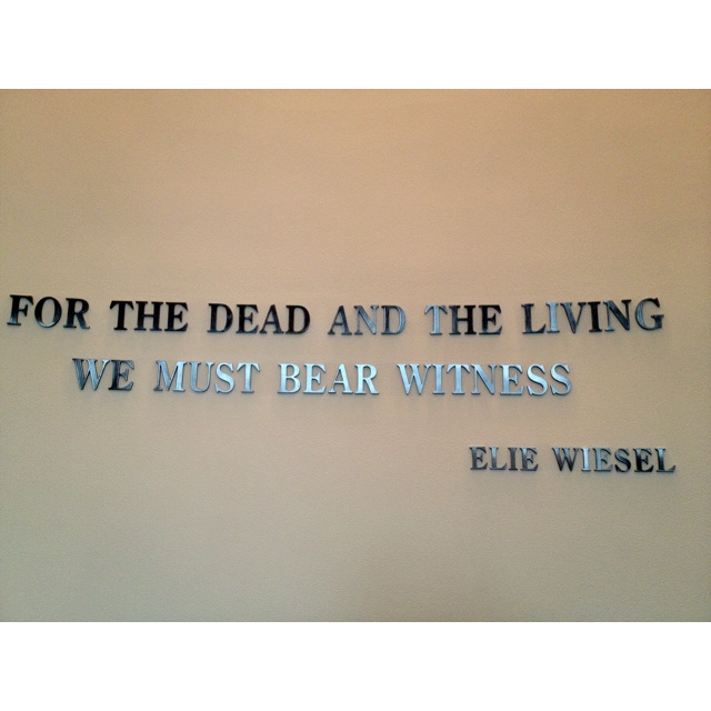 YES, WE MUST NEVER EVER FORGET . . .Holocaust museum