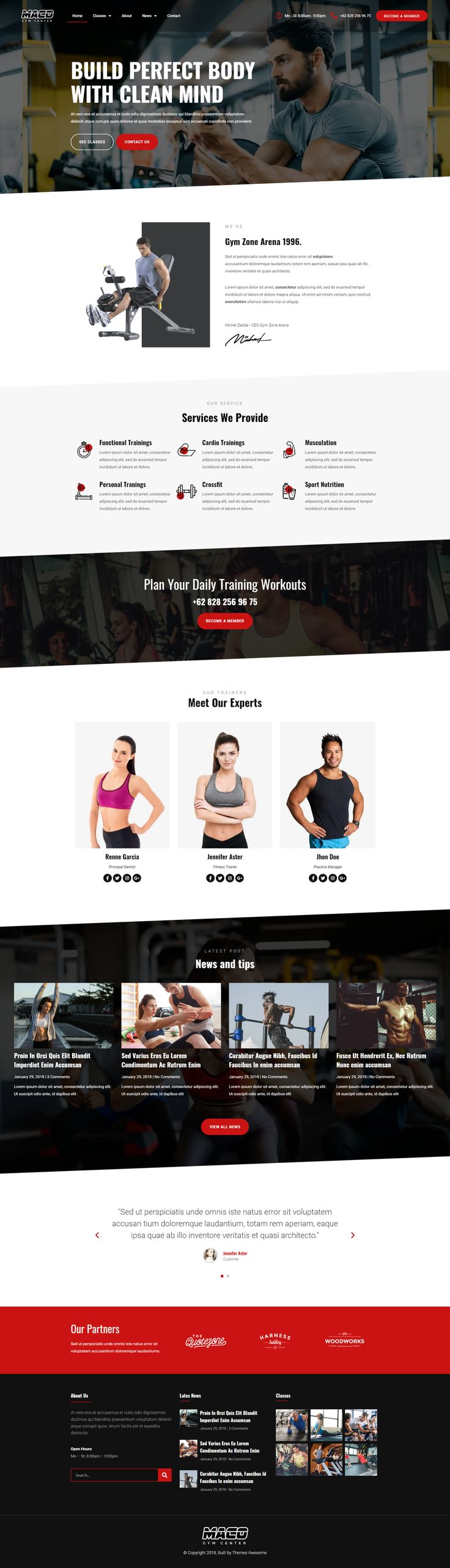 Maco Kit Gym Fitness Website Design In 2021 Fitness Website Design Fitness Training Fitness Website