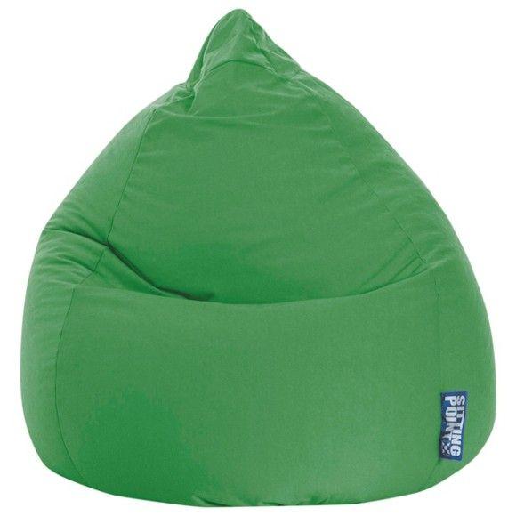 Auf diesem Sitzsack können Sie es sich so richtig gemütlich machen. Dank des frischen Grüns verbreitet der Sitzsack Dungel-Atmosphäre!