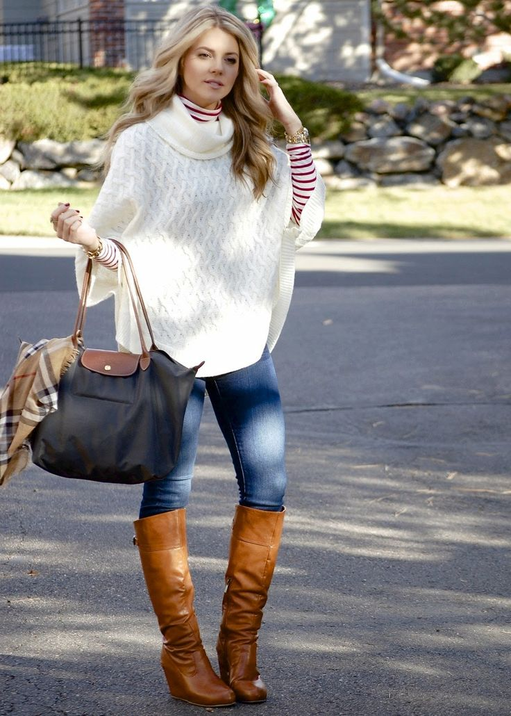 PolishedandPink: The Perfect Poncho Sweater