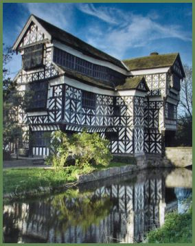 Little Moreton Hall, Cheshire, UK 15th century timbered house