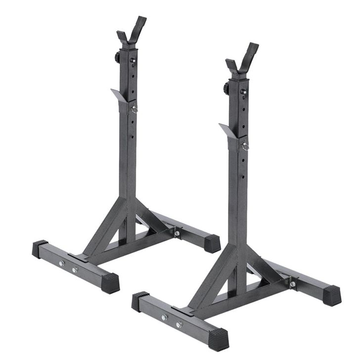 Docooler Pair of Adjustable Standard Solid Steel Squat Stands Detachable Barbell Stands for Fitness Exercise Squat Rack 111.5 - 141.5cm. This is a kind of squat stands to perform squats, weightlifting to strengthen your body, lose your weight and keep you healthy. It is made of sturdy and durable steel that provides the maximum safety. Rubber end caps protect your floor from scratching and prevent slipping. Adjustable to fit your height. Maximum load-bearing capacity of 200kg. The…