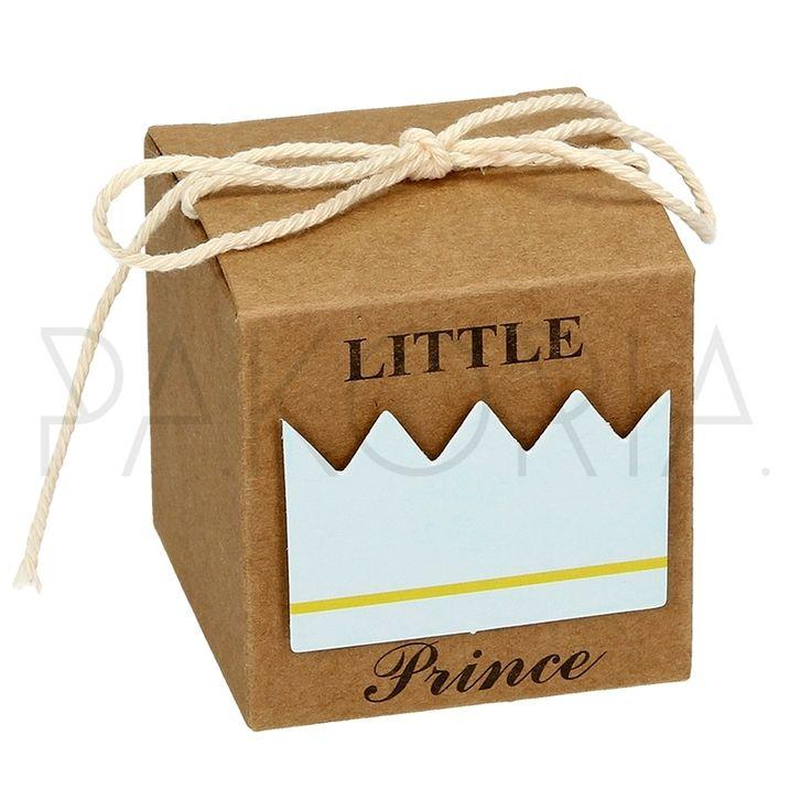 Pudełko ECO NIEBIESKA KORONA z kokardą. Pudełko ECO RÓŻOWA KORONA  z kokardą.  Idealne na chrzest, roczek, baby shower, gender party, kinder party. Inspiracje. pakoria.pl Inspiration, pink cute baby crown, Royal, little prince.