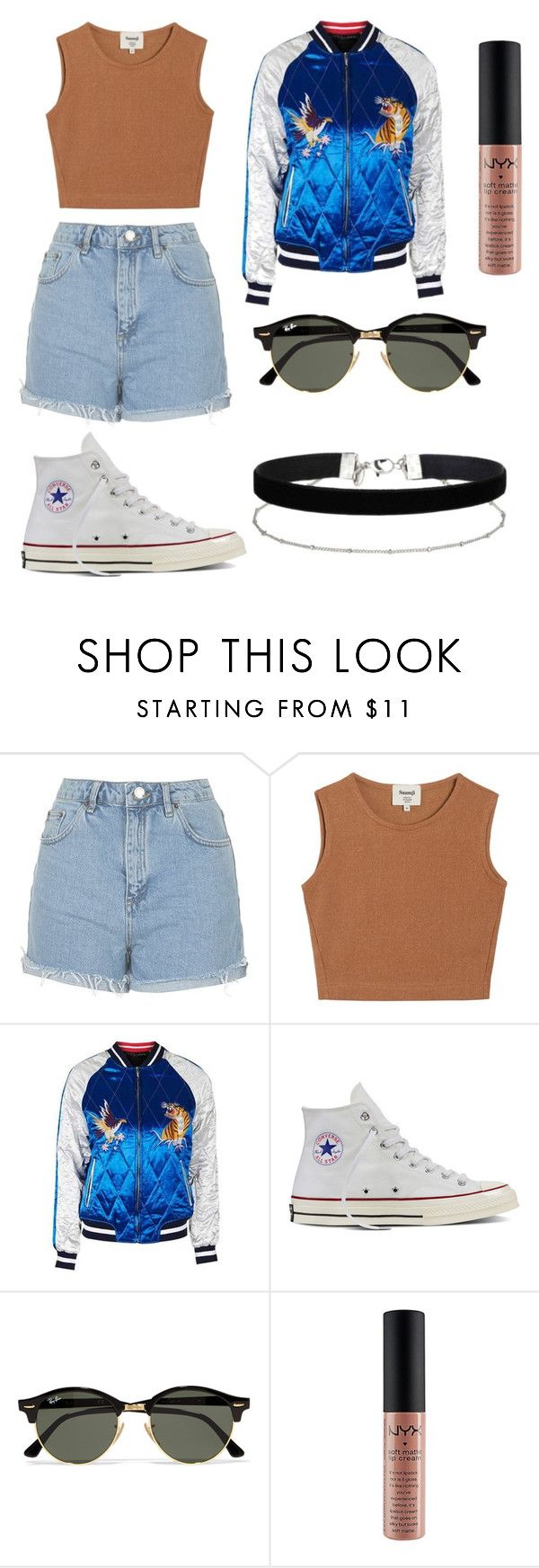 """vintage"" by alexa-str on Polyvore featuring Topshop, Samuji, Converse, Ray-Ban, Miss Selfridge and vintage"