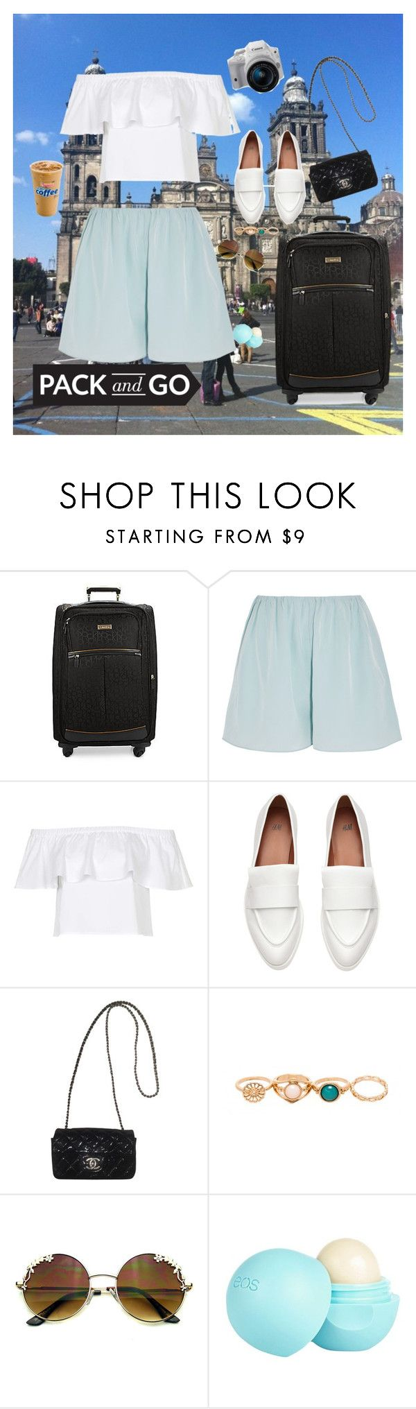 """Touring Mexico City"" by pereztorresd ❤ liked on Polyvore featuring Calvin Klein, Elizabeth and James, Topshop, Chanel, Eos and River Island"