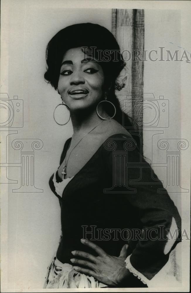 1967 Press Photo Metropolitan Opera singer Grace Bumbry to star in Carmen.