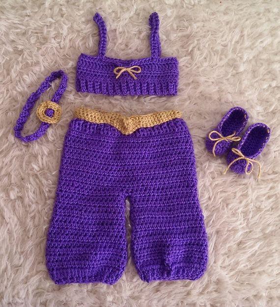 Princess Jasmine  inspired Pants shirt by GranniesCrocheting, $24.99