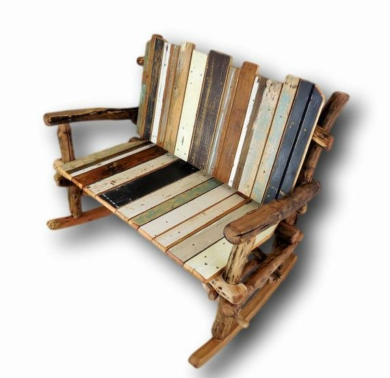 Made to Order Rocker, Reclaimed Wood Rocking Chair, Rustic Love Seat, Rustic Rocking Chair, Rocking Settee, Rustic Rocker, Porch furniture