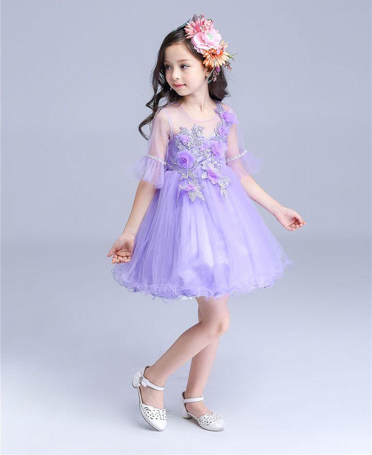 $56.96 (Buy here: https://alitems.com/g/1e8d114494ebda23ff8b16525dc3e8/?i=5&ulp=https%3A%2F%2Fwww.aliexpress.com%2Fitem%2FWedding-Flower-Girls-Princess-Dresses-2016-Summer-New-Purple-Half-Flare-Sleeve-Prom-Ball-Gowns-Dress%2F32706109063.html ) Wedding Flower Girls Princess Dresses 2016 Summer New Purple Half Flare Sleeve Prom Ball Gowns Dress Kids Party Frocks vestidos for just $56.96