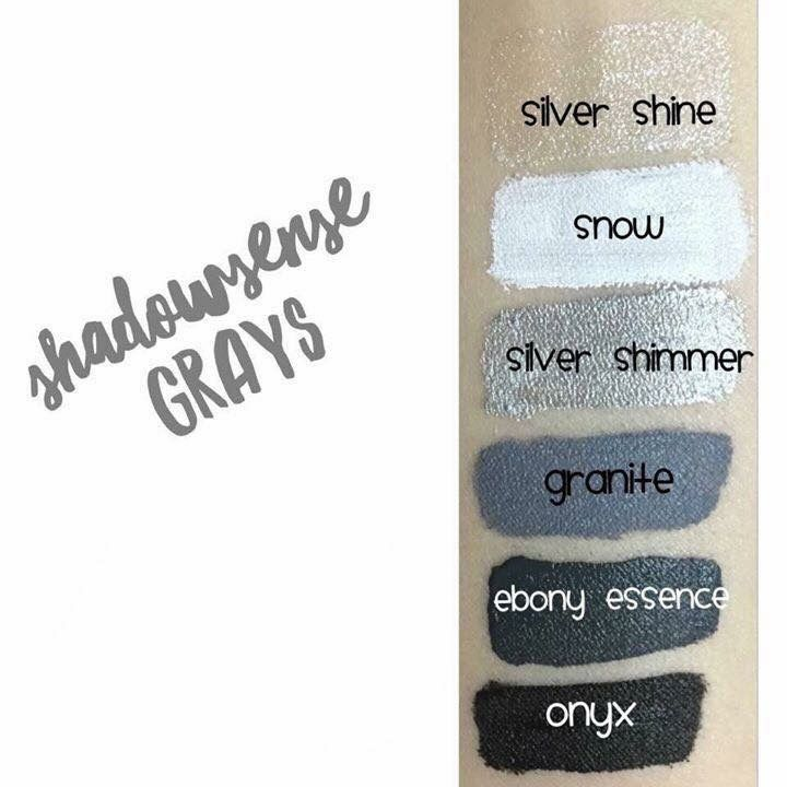 ShadowSense Grays - Crème to powder long-lasting, anti-aging and multi-functional!  Use singularly, blend together, as a shadow, to fill in brows, or as your eyeliner!  Some even use as blush and lip color - wherever your imagination takes you!
