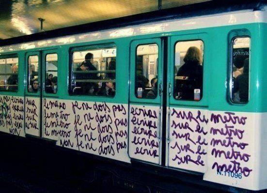 Je ne dois pas écrire sur le métro