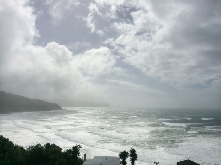 Tairua Home, Wild surf, Beach House, a view to live for. Foto taken from the Beach House to the West, Oceana Heights