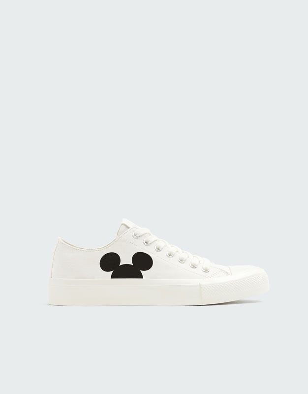 3e2c7f77483 White Mickey Mouse trainers - PULL BEAR